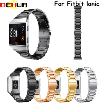 Watch Band for Fitbit Ionic Stainless Steel Metal Replacement wrist Strap for Fitbit Ionic Smart watch Band Strap Bracelet watch