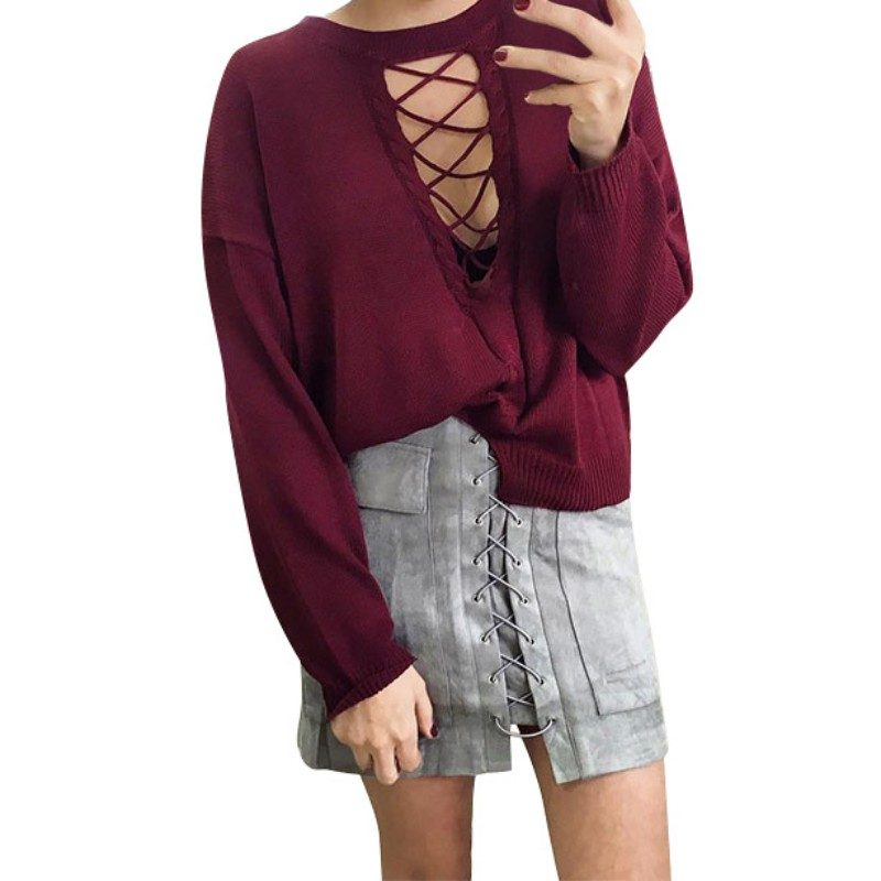Autumn Lace Up Suede Leather Women Skirt 90's Vintage Pocket Preppy Short Skirt Winter High Waist Casual Mini Skirts