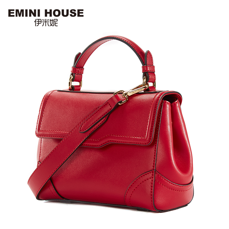 EMINI HOUSE Retro Style Split Leather Shoulder Bag Fashion Handbags Women Messenger Bags High Quality Crossbody Bags For Women emini house indian style bag women messenger bags split leather crossbody bags for women shoulder bag chic chain original design