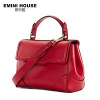 EMINI HOUSE Retro Style Split Leather Shoulder Bag Fashion Handbags Women Messenger Bags High Quality Crossbody Bags For Women
