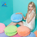 Cartoon Colorful Macaron Style Round Back Cushion Soft Plush Lumbar Pillow Sofa Chair Cushion for Home Decoration Fast Shipping