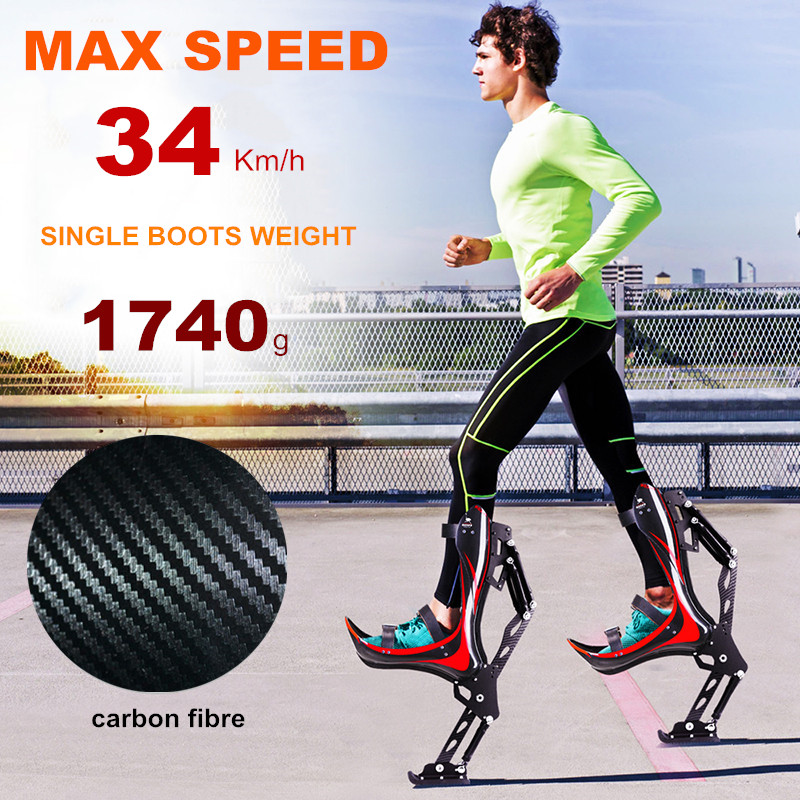 Jumping-Shoes Stilts Ostrich-Boots Bionic Bounce Kangaroo Jump Adults Sports-Fitness-Device