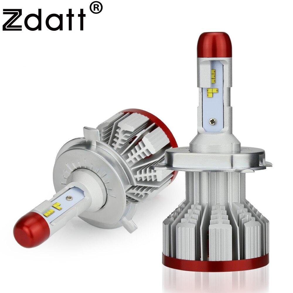 Zdatt ZES H4 Led H7 H8 H9 H11 H1 H3 Led Ampoule 9005 9006 Phare 100 w 12000Lm Voiture Lumière canbus 12 v Auto Lampe 6500 k Moto