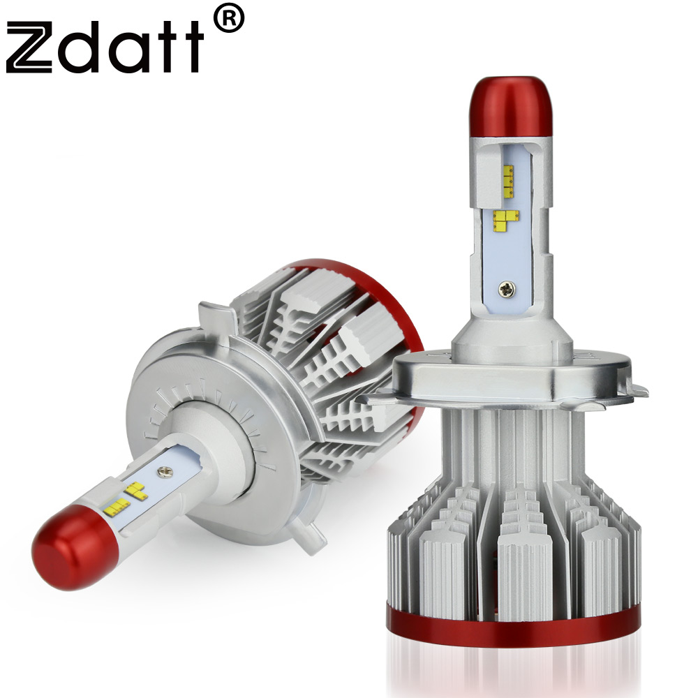 Zdatt ZES H4 Led H7 H8 H9 H11 H1 H3 Led Bulb 9005 9006 Headlight 100W 12000Lm Car Light Canbus 12V Fog Lamp Automobiles 6500K 2 pcs h1 h3 h4 h7 h8 880 881 9005 9006 h11 halogen light fog light lamp dc 12v 100w yellow spuer white bulbs for universal car