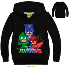 2016 New Spring&Autumn PJMASKS Baby Boys Fashion Hoodies Long SleeveT-shirts Children Coats Girls Cute Tops