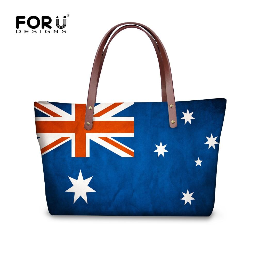 Forudesigns Fashion Uk Flags Pattern Women S Tote Hanbags Large Handbag Luxury Las Single Messenger Bag