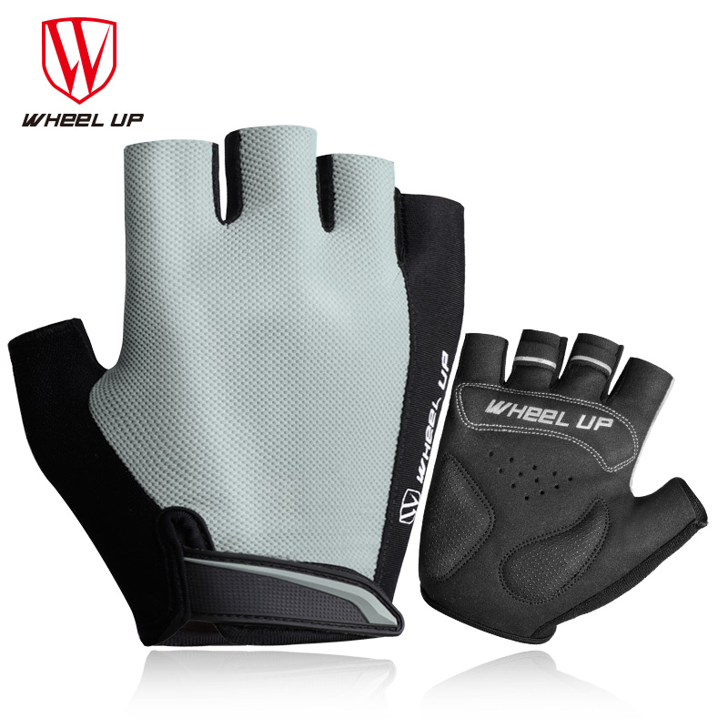 WHEEL UP Cycling Gloves Half Finger Breathable Soft Shockproof Mountain Bike Gloves Men Women Comfortable Sports Bicycle Gloves