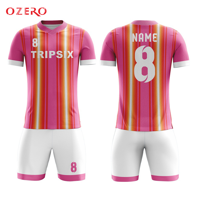 the best attitude 04b78 65fbf US $140.0 |custom put your name pink color football jerseys football shirt  maker soccer-in Soccer Jerseys from Sports & Entertainment on ...