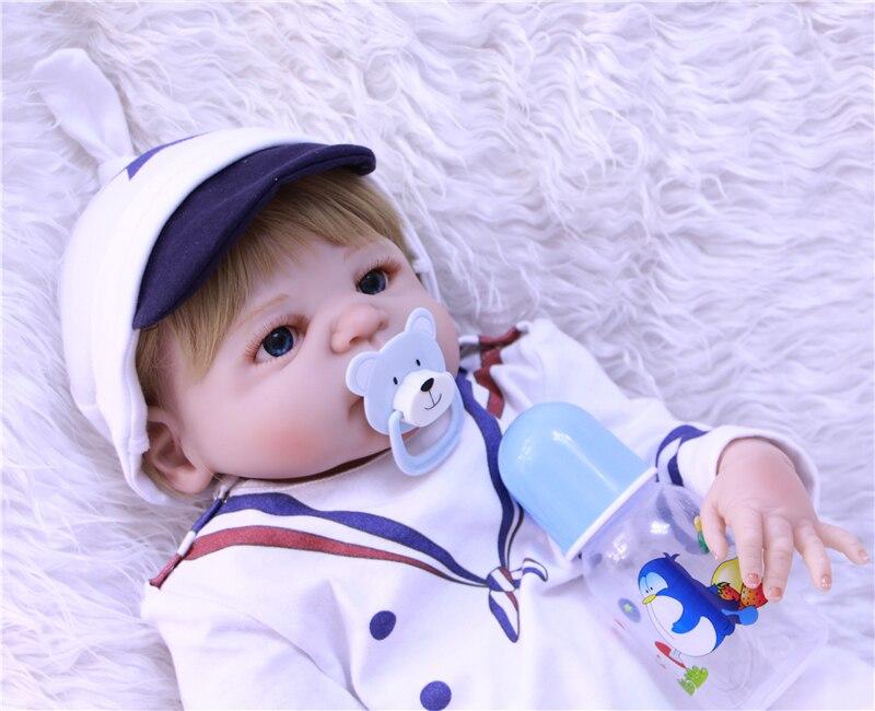 Bebe reborn menino Boneca 23 pouces 57 cm corps entier silicone vinyle reborn bébé garçon poupées lol jouets cadeau pour enfant - 4
