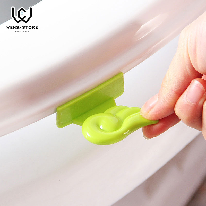 1pcs Bath Seat Toilet Cover Lifting Device Bathroom Clamshell Lid Lifter Manual Covertoilet Seat Lifters Supplies XF40
