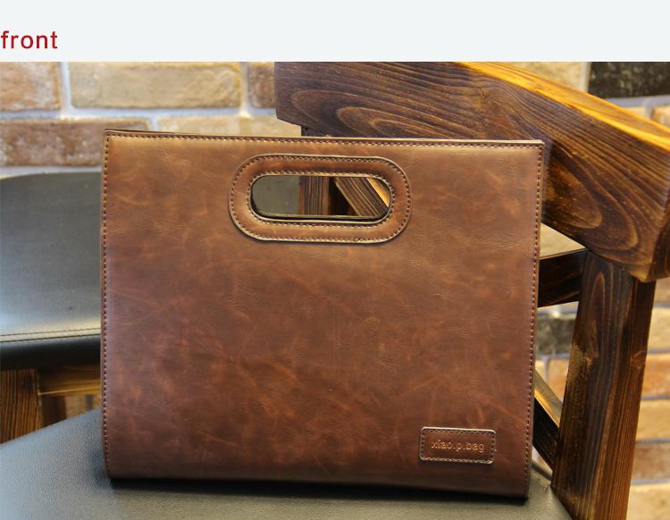 Business Casual Men Leather Designer Handbag High Quality Male Wallet Famous Brand Men's Large Capacity Clutch Bag Brown black 74