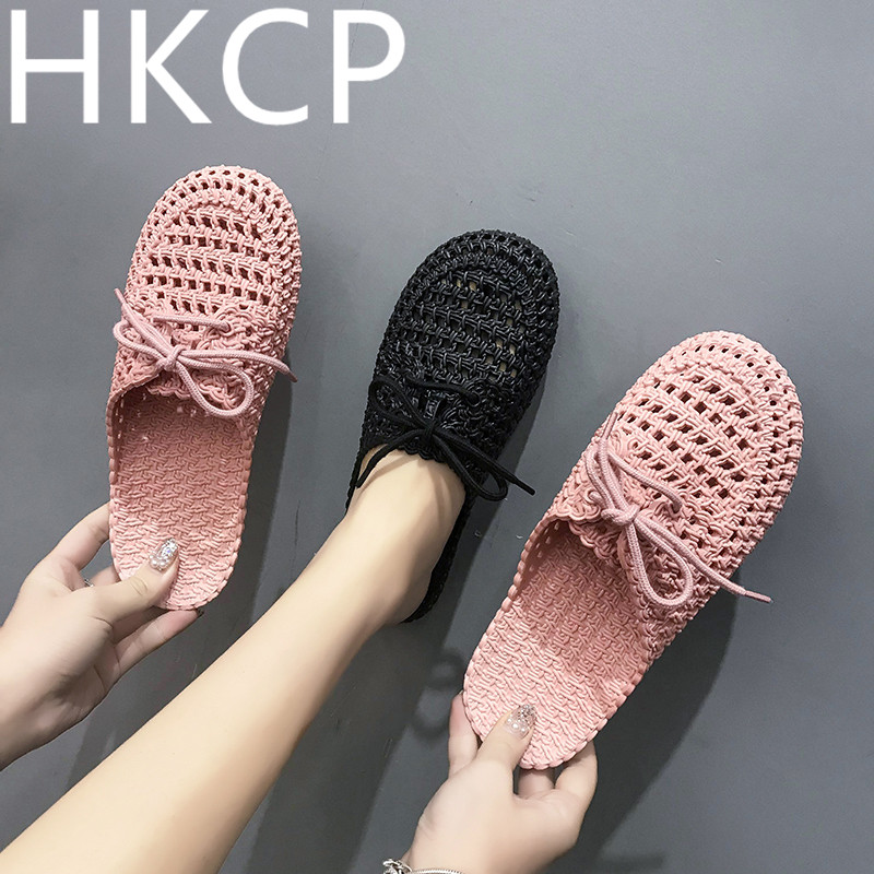 HKCP New female slippers baotou non-slip soft bottom shoes style cave C013