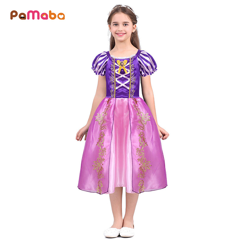 Kids Cosplay Costume Dress Cinderella Elsa Baby Girls: PaMaBa Fantasy Kids Princess Rapunzel Dress For Girls