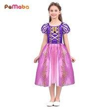 3721f88f1 PaMaBa Fantasia Crianças Vestido de Princesa Rapunzel para Meninas Roupas  Crianças Criança Cinderela Vestidos Elsa Anna
