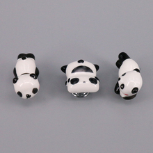 1x Children Room Knobs and Handles Cartoon Furniture Ceramic Panda shape Door Knob Kids Drawer Cabinet Pulls