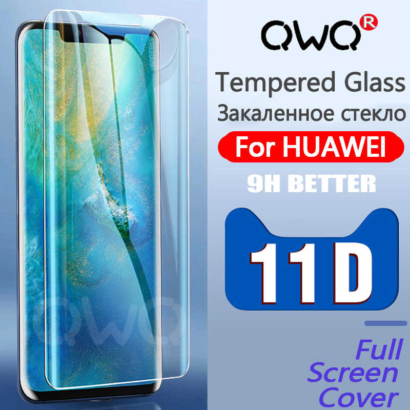 11D Full Cover Tempered Glass For Huawei P30 Pro P20 Lite Pro P Smart 2019 Screen Protector Film For Mate 20 Pro 10 Lite Glass