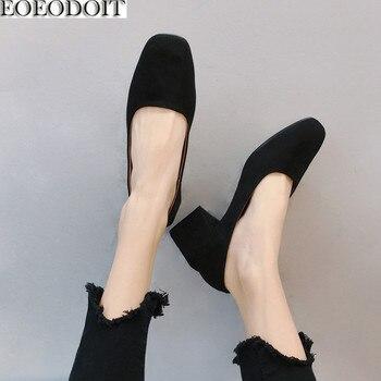 d267d9ed9 EOEODOIT/туфли-лодочки с квадратным носком; женская обувь; сезон весна-лето