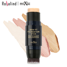 [Rosalind Beauty] MIXIU Face Makeup  Foundation Stick Concealer Powder Creamy Perfect Cover  Oil-control Waterproof  Base Skin