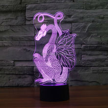 Slong Light LED Chinese Style Paper Cut Dragon Color Change 3D Night Xmas