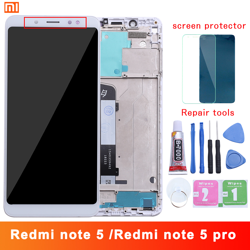 Xiaomi <font><b>Redmi</b></font> <font><b>Note</b></font> <font><b>5</b></font> <font><b>Pro</b></font> <font><b>LCD</b></font> Display Touch Screen Test Good Digitizer Assembly Replacement For Xiaomi <font><b>Redmi</b></font> Note5 <font><b>5</b></font>.99 Inch image
