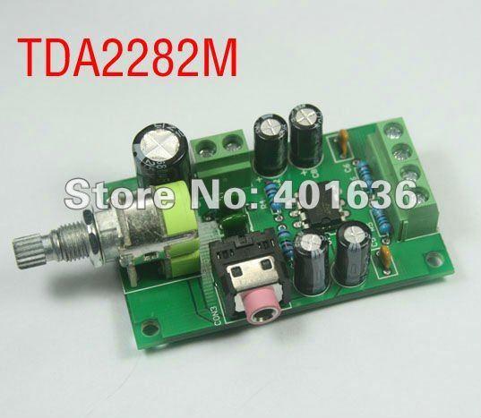 2 Channel Stereo Power Amplifier Module Kit 1W, Based on TDA2822M, DC input 12V