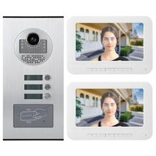 7inches Video Intercom Doorbell Visual Intercom Door Phone RFID Camera waterproof smart door bell motion sensor bell includes mounting box hikvision ds kv8102 1a ds kv8102 im visual intercom doorbell waterproof ic card ip intercom