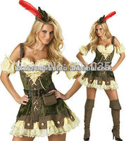 FREE SHIPPING Zt 2042 Ladies Pocahontas Native American Indian Maiden Costume Wild West Fancy Dress
