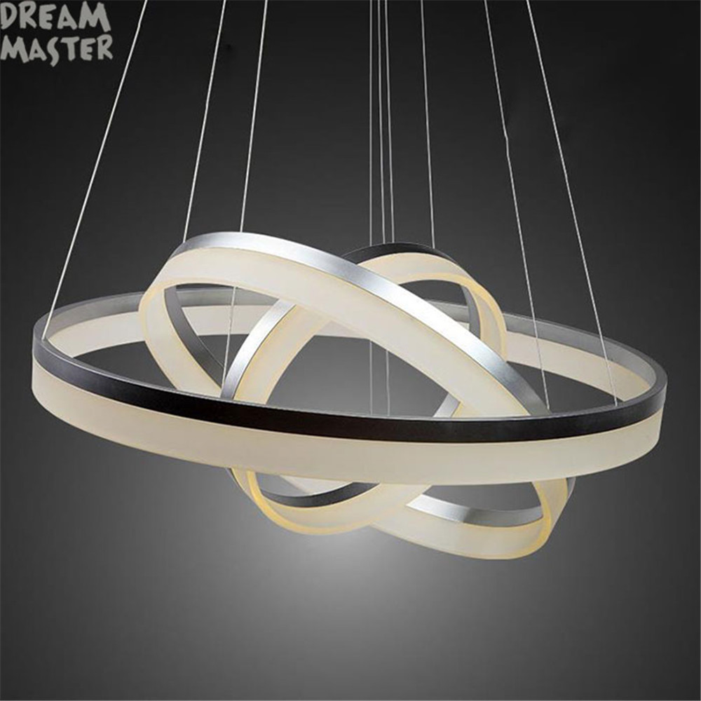 Led Chandelier Us 199 Modern Acrylic Led Chandelier Lamp 3 Rings Hanging Lights For Indoor Home Deco With Led Source Industrial Home Lustres Lamp In Chandeliers