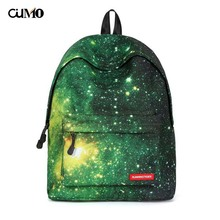 Ou Mo brand Green starry sky Women Mini Bag man teenagers Boys/Girls Schoolbag laptop anti theft backpack feminina