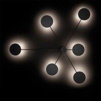 Современная Nordic деревенский железа белый/черный 6 потолочный светильник комплект светодиодный потолочный светильник для Спальня Гостиная