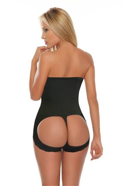 Levantadas shaper bundas lifter com 4 aço desossado Lingerie Sem Costura Das Mulheres CALÇAS calças corpo shaper up bundas hip magro rendas