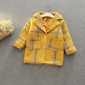 fashion baby girl winter coat plaid toddler girl blazer jacket button baby coat wool coat outwear Fashion girls clothing 2017