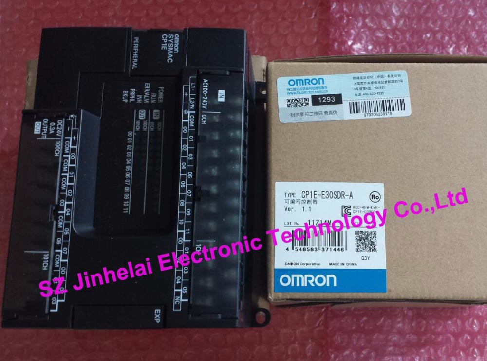 цены  100% New and original CP1E-E30SDR-A   OMRON PLC controller module    Relay output     CPU UNIT