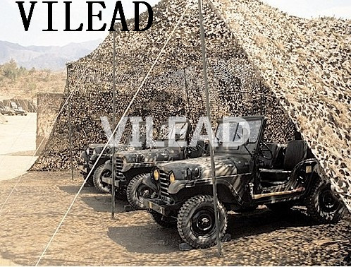 VILEAD 3M x 8M (10FT x 26FT) Desert Camo Netting Military Army Camouflage Net Shelter Sniper Theme Party Decoration Game Shade vilead 9 colors 2 5m 8m forest camouflage net camo net invisible camo net army covert net for snipers party theme decoration