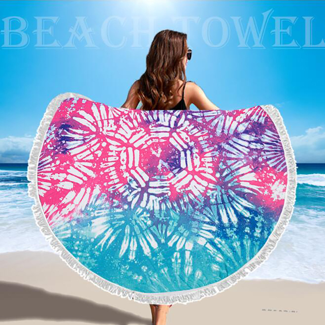 SDARISB Microfiber Fabric Bath Towel Round Beach Towel Wholesalers Large Towel Wholesalers Watermelon Lemon Vacation Products 2