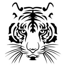 Powerful Tiger Head Car-styling Motorcycle Vinyl Decal Car Sticker funny styling Animal Pattern Motorcycles Decoration