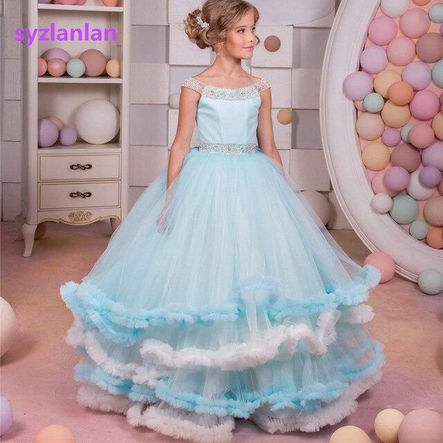 Girl Birthday Dress Girl Dress For Wedding And Party 2017 Girls Blue ...