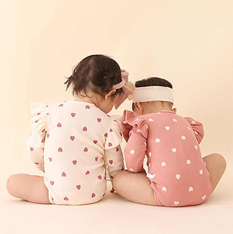 Nuovo Del Bambino Bodysuits2019 Ragazze dei bambini 'Cura Pulsante Cappello-shirt Babies'cotton Manica Lunga Linkage Vestito di Arrampicata