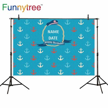Funnytree backdrop for photographic studio Sailor theme birthday party anchor custom professional background photocall prop image