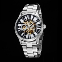 GOER brand man watches Mechanical automatic fashion male wrist watch Waterproof Luminous Skeleton Stainless Steel sports
