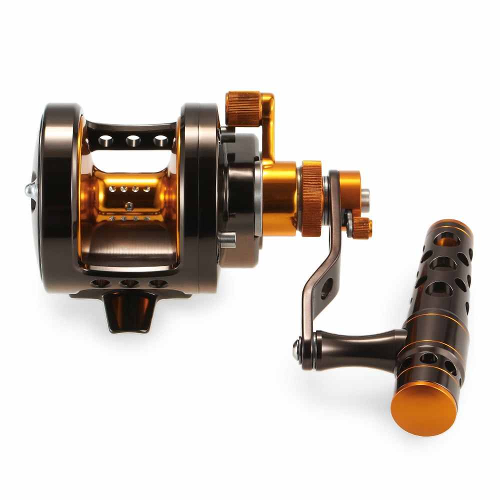 Aluminium CNC Gefreesd 2-Speed Vissen Reel Lever Drag Big Game Trolling Reel Zee Boot Jigging Reel De Pesca