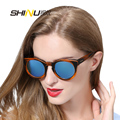 ShiNu retro round glasses bamboo women fashion sunglasses luxury sunglass women with original logo and box SH6011