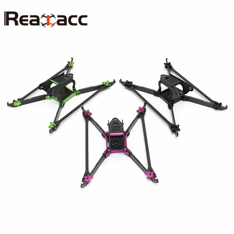 Realacc Real1S Stretch 5 Inch 4mm Thickness Vertical Arm CNC Carbon Fiber FPV Racing Frame For DIY Multirotor Accs Motor Prop 1sheet matte surface 3k 100% carbon fiber plate sheet 2mm thickness