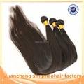Pelo Virginal brasileño Recto 3 Unids Natural Negro Dyeable Extensión Del Pelo Humano Sin Procesar Paquetes Armadura Del Pelo Brasileño Recto