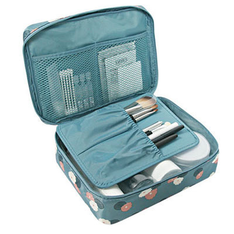 New Female Large Capacity Cosmetic Bag Korean Makeup Bag Women Handbag Portable Storage Waterproof Bag Multi-function Travel Bag цена