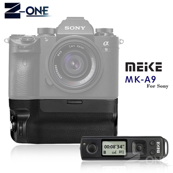 NEW Meike MK-A9 PRO Battery Grip 2.4GHz Remote Controller to Vertical-shooting Function for Sony A9 A7RIII A7III A7 III Camera