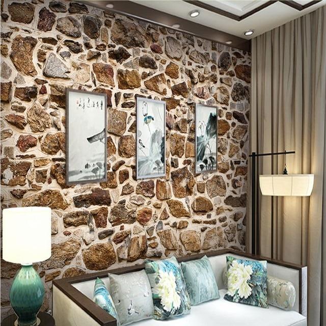 Fototapete Personalisierte kultur stein design tapeten wohnzimmer ...