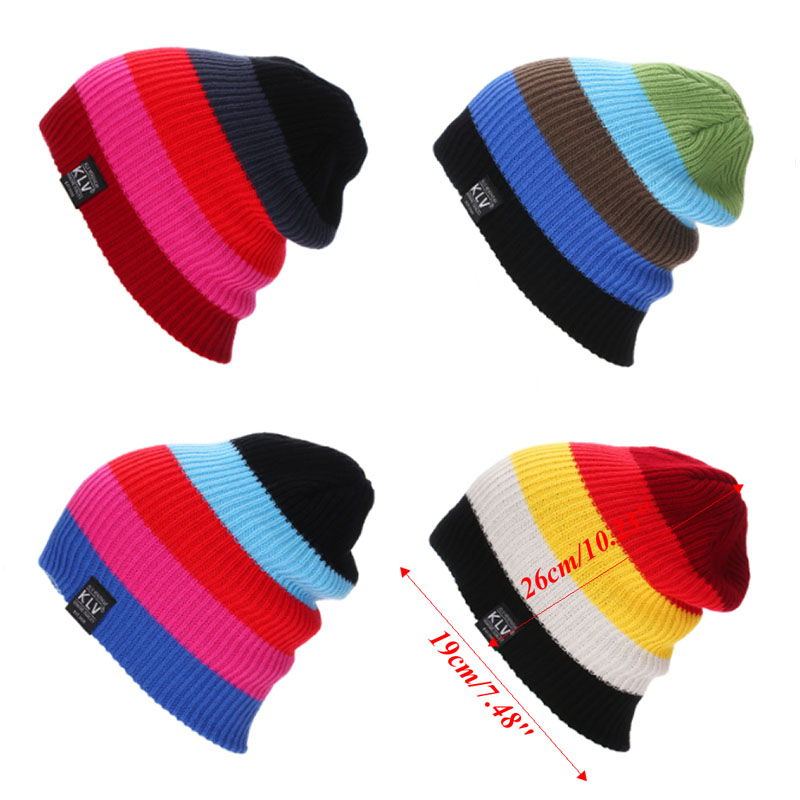 Women Warm Winter Baggy Beanie Knit Crochet 4 colors Oversized Hat Slouch Ski Cap unisex women warm winter baggy beanie knit crochet oversized hat slouch ski cap