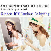 Customize Your Photo DIY Number Painting Custom Gift Canvas Painting Paint By Numbers Portrait Coloring by Numbers Dropshipping