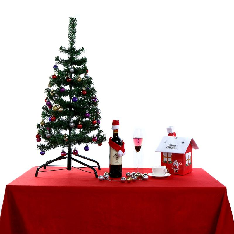 Christmas Table Cloth Placements Home Dining Table Decor For Party Christmas Atmosphere Tablecloths Rectangular 212x136cm